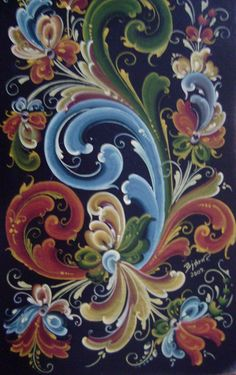 What is Rosemaling? A traditional form of Norwegian decoration folk art, practised more in America today than in Norway itself. Find out why.