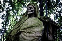 Old Nick, most famous sculpture in the Melaten Cemetery in Cologne Germany.