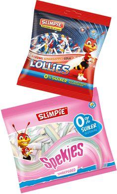 Suikervrije lollies & spekjes van Slimpie. Lollies, Snack Recipes, Snacks, Pop Tarts, Packaging, Snack Mix Recipes, Appetizer Recipes, Appetizers, Wrapping
