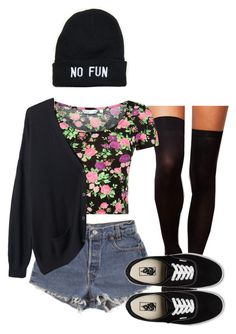 I'm just no fun by del-diablo on Polyvore featuring Organic by John Patrick, Tintoretta, Levi's and Vans