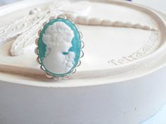 Cameo Statement Ring  by linkeldesigns on Etsy, $13.00