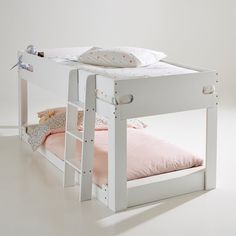 Dydus Slatted Base Guest Bed La Redoute Interieurs We love this clever, handy guest bed that's perfect for sleepovers and unexpected guests.The Dydus guest bed fits perfectly under the Dydus mid-height. Childrens Bedroom Furniture, Childrens Beds, Kura Bed, Bunk Beds, Kids Bedroom Storage, Cute Furniture, Guest Bed, New Beds, White Bedding