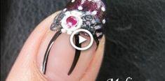 Nail Art Tutorial - Gothic Lolita Fantasy French Tip Bow Tie Nail Sticker rhinestone Manicure Design Ombre French Nails, Faded French Manicure, Glitter French Tips, French Tip Nail Art, French Tip Nail Designs, Accent Nail Designs, Winter Nail Designs, Manicure Colors, Diy Manicure