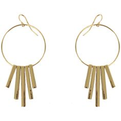 Pre-owned Gold Fringe Hoop Earrings (1.615 RUB) ❤ liked on Polyvore featuring jewelry, earrings, fringe jewelry, preowned jewelry, gold hoop earrings, yellow gold jewelry and gold jewelry
