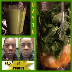 Today was day 10 of the 10-Day Green Smoothie Cleanse!!!  I Lost 10lbs!!! Woot-Woot!!!! #jjsmith #10daygreensmiothiecleansebook