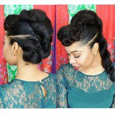 """Natural Hair Protective Hairstyle """"Twist'n'Bun"""""""