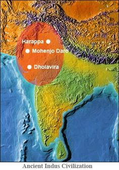Indus culture seems to have gradually spread from west to east, with sites towards central and southern India flourishing after Harappa and Mohenjo Daro had declined. The drying up of the ancient Saraswati or Ghaggar-Hakra River, east of and parallel to the Indus, may also have affected the civilization. There are numerous Indus sites along that river bed.