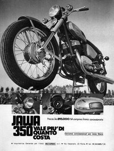 1978 Jawa CZ 350 Motorcycle Original Rare Italian Ad