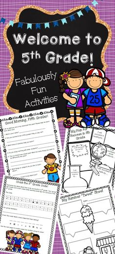 Are you looking for exciting activities to use while getting to know your new fifth graders? This packet contains individual, partner, small group, and whole-class activities. Help your students get to know you and their new classmates with the engaging a