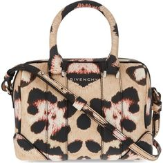 GIVENCHY Lucrezia mini leopard-print shoulder bag ($1,735) ❤ liked on Polyvore featuring bags, handbags, shoulder bags, leopard, givenchy, leopard purse, leopard shoulder bag, zipper handbag and shoulder bag purse