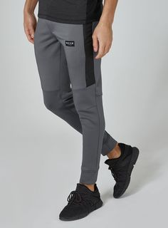 NICCE Charcoal 'Hybrid' Joggers - Men's Joggers - Clothing - TOPMAN