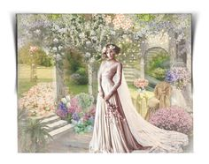 Spring Wedding by craftygeminicreation on Polyvore featuring art, Spring, wedding and expression