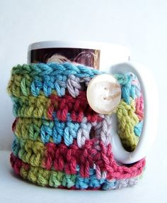 Coffee Cozy Coffee Mug Tea Cup handmade crochet by KnotworkShop, $10.00