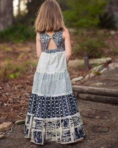 PDF sewing pattern for toddler girl sizes - - Simple Life Company Girls Maxi Dresses, Little Girl Dresses, Summer Dresses, Baby Frocks Designs, Kids Frocks Design, Moda Fashion, Skirt Fashion, Long Frocks For Kids, Hourglass Dress