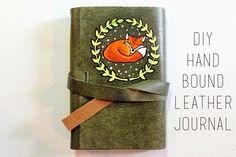 DIY Hand Bound Leather Journal Tutorial