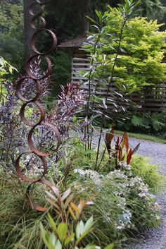 rusty garden sculpture