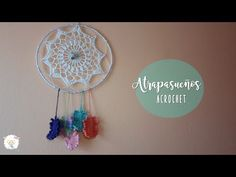 Atrapasueños a crochet | crochet dreamcatcher - YouTube