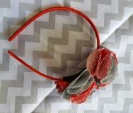 Girls/Toddler Ohio State Themed Headband by TwoPurpleThumbs on Etsy