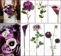 #purple wedding #calla lily #afloral http://blog.afloral.com/inspiration-boards/mallorys-purple-winter-wedding-flowers-inspiration-board/