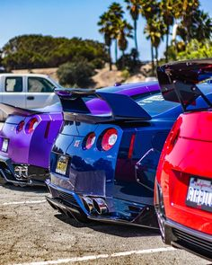 Red❤️ Blue💙 or Purple💜 Nissan GTR? Tag a JDM Lover👌 -->FOLLOW @SupercarsBuzz for More<--- • 🚨Check out Our Brand-New Website: SupercarsBuzz.com🌍 or Click the Link in Our Bio🚨 • [©Credits: @jay_garcia_ @socal_gtrs @billarrata @daddy1pain ] • #SupercarsBuzz #gtr #nissan #nissangtr #r35 #supercars #jdm #dreamcar #dreamcars #exhaust #exoticcars #exoticcar #carspot #carspots #carspotting Skyline Gtr, Nissan Skyline, Gtr Car, Nissan Gtr R35, Car Pictures, Car Pics, Liberty Walk, Bae, Retro Cars