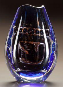 Art Glass:Other , EDVIN OHRSTROM FOR ORREFORS GLASS ARIEL VASE. Circa 1960.Engraved Orrefors, 9057913, Edvin Ohrstrom, Ariel...