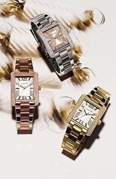 Michael Kors 'Emery' Crystal Accent Bracelet Watch. Nordstrom