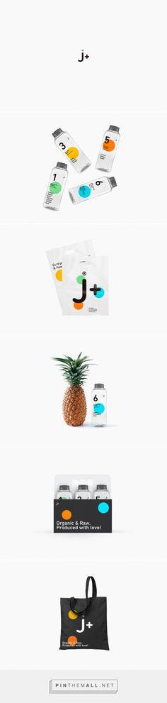 J+ Juice Branding and Packaging by Empatia Fivestar Branding Agency – Design and Branding Agency & Curated Inspiration Gallery Juice Branding, Juice Packaging, Bottle Packaging, Branding Agency, Brand Packaging, Packaging Design, Web Design Agency, Graphic Design Branding, Ad Design