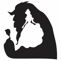 Beauty and the Beast Minimalist Disney vector file Beauty And The Beast Drawing, Beauty And The Beast Silhouette, Disney Diy, Cute Disney, Disney Silhouette Art, Princess Silhouette, Negative Space Art, Cricut Craft Room, Architecture Tattoo