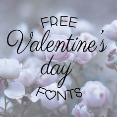 Add a special touch to your Valentine's day projects with this collection of free fonts.