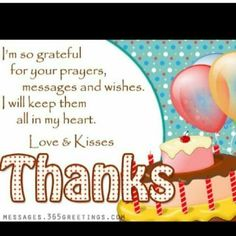 78 Best Thank You Birthday Wishes Images Happy Birthday Greetings
