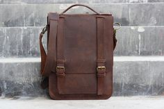 Handmade Leather Satchel  Chocolate Brown Hip Bag / by JooJoobs, $160.00
