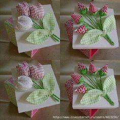 Caja y ramos de tela