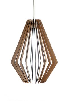 The Tokai pendant light - AssembLIT - Wooden pendant light White Stain, Light Fittings, Pendant Lighting, Bulb, House Design, Ceiling Lights, Modern, Light Fixtures, Trendy Tree