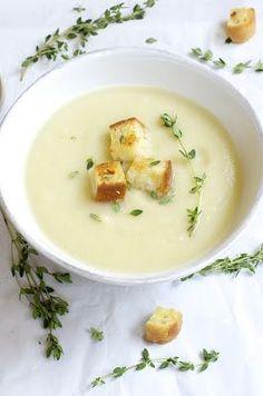Jerusalem Artichokes (Sunchokes), Potatoes, Garlic Soup