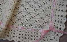 This Pin was discovered by Pie Crochet Stars, Thread Crochet, Love Crochet, Crochet Lace, Crochet Stitches, Preemie Crochet, Baby Girl Crochet Blanket, Crochet Blanket Patterns, Fillet Crochet