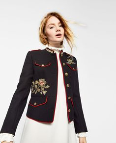 JACKET WITH EMBROIDERY |  ZARA