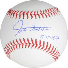 eee37d748d9 Giancarlo Stanton Miami Marlins Autographed Baseball with 2017 NL MVP  Inscription - Authentic Signed