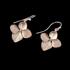 Hydrangea earrings rendered from nature's own design! Bronzed. #MadeinUSA at Norton's U.S.A.!