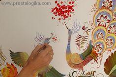 роспись стен петриковкой