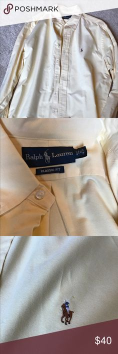Men's Ralph Lauren button down dress shirt Button down polo dress shirt Polo by Ralph Lauren Shirts Dress Shirts