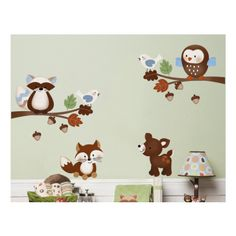 Forest Friends Fabric Wall Decal | Forest Animals Wall Decal