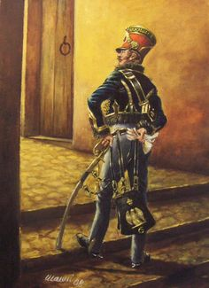 sous-officier of 6th Hussars, 1810, by Stefano Manni