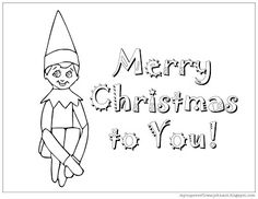 elf on the shelf coloring pages pdf | Elf on the shelf coloring page. | Elf on a Shelf Ideas ...