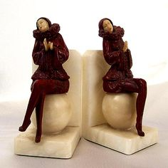 Deco Lady Bookends