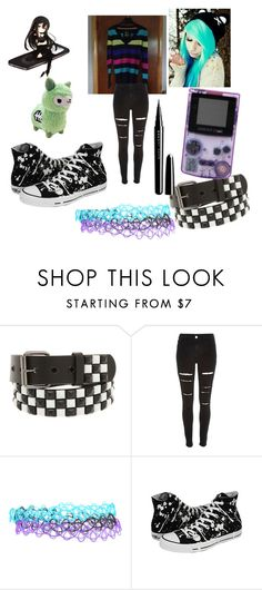 """Scene"" by candy-lover12 ❤ liked on Polyvore featuring River Island, Converse and Marc Jacobs"