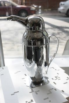 Classic art Deco icon - a Napier style penguin shaker!