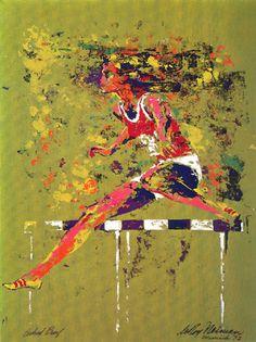Olympic Hurdler | LeRoy Neiman #leroyneiman