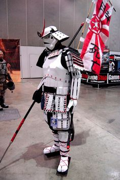Awesome samurai Stormtrooper costume! I wonder if there was a scenario)