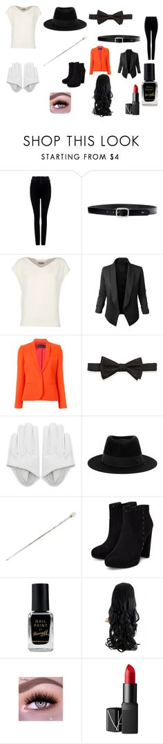 """""""I write sins not tragedies"""" by harleyquinn123-dcxx ❤ liked on Polyvore featuring Citizens of Humanity, Lauren Ralph Lauren, Alberto Biani, Jupe de Abby, Barbara Bui, Neiman Marcus, Maison Michel, Pasotti Ombrelli, Barry M and NARS Cosmetics"""