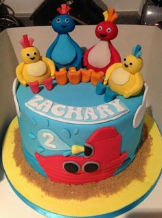 Does your little CBeebies fan love the Twirlywoos? They'll be amazed by this colourful birthday cake. Colorful Birthday Cake, Boys 1st Birthday Cake, Birthday Ideas, Twirlywoos Cake, Cupcake Cakes, Cbeebies Cake, Cake Decorating Tutorials, Cakes For Boys, Celebration Cakes